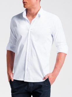 Balti marškiniai vyrams ilgomis rankovėmis internetu pigiau K505 13520-5