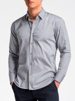 Pilki marškiniai vyrams ilgomis rankovėmis internetu pigiau K505 13521-3