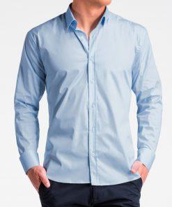 Šviesiai mėlyni marškiniai vyrams ilgomis rankovėmis internetu pigiau K505 13522-5