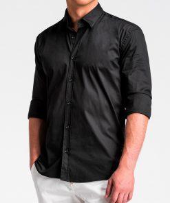 Juodi marškiniai vyrams ilgomis rankovėmis internetu pigiau K505 13523-5