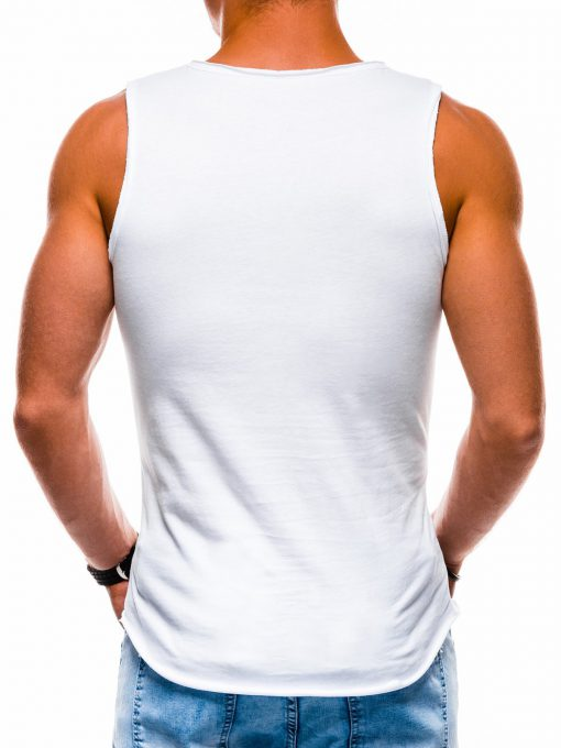 Balti sportiniai vienspalviai vyriski marskineliai vyrams internetu pigiai S1174 13564-4