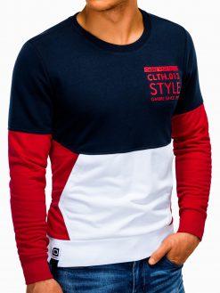 Raudonas vyriškas džemperis su užrašu B936 13610-5