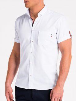 Balti vyriški marškiniai trumpomis rankovėmis internetu pigiau K489 13612-4
