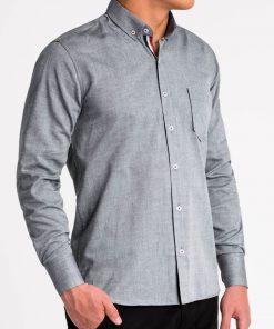 Pilki marškiniai vyrams ilgomis rankovėmis internetu pigiau K490 13617-3
