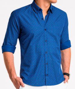 Tamsiai mėlyni taškuoti marškiniai vyrams internetu pigiau K470 13637-5