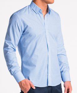 Šviesiai mėlyni marškiniai vyrams internetu pigiau K471 13639-4