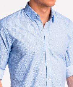 Šviesiai mėlyni vyriški marškiniai internetu pigiau K471 13639-6