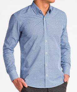 Tamsiai mėlyni marškiniai vyrams internetu pigiau K471 13640-4