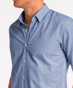 Tamsiai mėlyni vyriški marškiniai internetu pigiau K471 13640-6