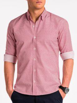 Raudoni marškiniai vyrams internetu pigiau K471 13641-1