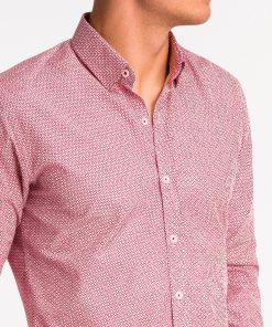 Raudoni vyriški marškiniai internetu pigiau K471 13641-6