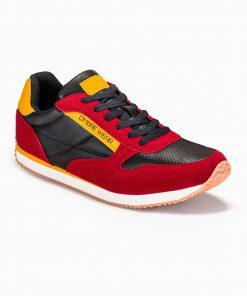 Raudoni vyriški laisvalaikio batai vyrams internetu pigiau T310 13649-4