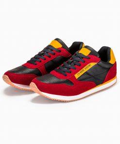 Raudoni laisvalaikio vyriski batai internetu vyrams pigiau T310 13649-5