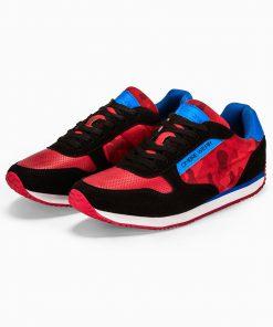 Raudoni kamufliaziniai vyriski laisvalaikio batai vyrams internetu pigiau T310 13650-1