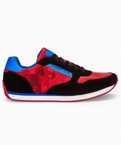 Raudoni kamufliaziniai laisvalaikio vyriski batai internetu vyrams pigiau T310 13650-3
