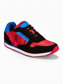 Raudoni kamufliažiniai vyriški laisvalaikio batai vyrams internetu pigiau T310 13650-5