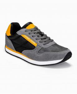 Tamsiai pilki laisvalaikio vyriški batai internetu vyrams pigiau T310 13651-6