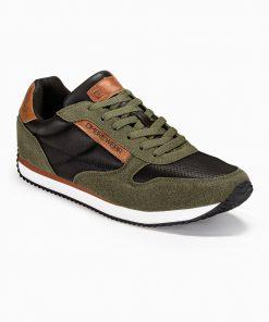Žali vyriški laisvalaikio batai vyrams internetu pigus T310 13655