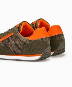Zali kamufliaziniai vyriski laisvalaikio stilingi batai vyrams internetu sportbaciai pigiau T310 13654-4