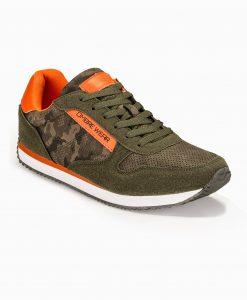 Žali kamufliažiniai vyriški laisvalaikio batai vyrams internetu pigiau T310 13654-5