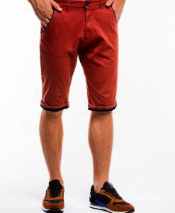 Raudoni chino vyriški šortai internetu pigiau W150 13658-3