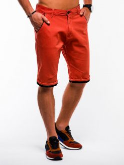 Oranžiniai chino vyriški šortai internetu pigiau W150 13661-4
