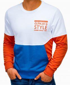 Oranžinis vyriškas džemperis su užrašu B936 13667-6
