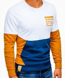 Geltonas vyriškas džemperis su užrašu B936 13668-1