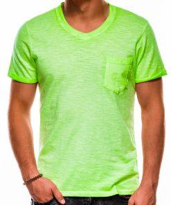 Žali vienspalviai vyriški marškinėliai akcija S1053 13672-1