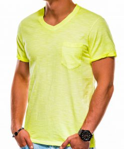 Geltoni vienspalviai vyriški marškinėliai akcija S1053 13673-2