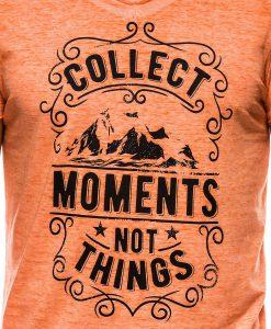 Oranziniai vyriski marskineliai su uzrasu internetu pigiau S1148 13680-2