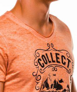Oranziniai marskineliai vyrams su uzrasu internetu pigiau S1148 13680-4