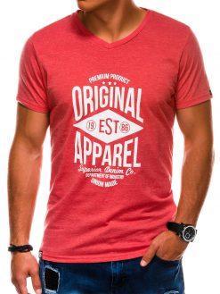 Koraliniai vyriški marškinėliai su užrašu internetu S1162 13708-2