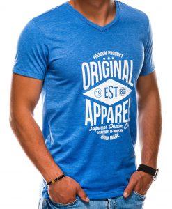 Mėlyni vyriški marškinėliai su užrašu internetu S1162 13709-2