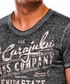 Pilki vyriški marškinėliai su užrašu internetu S1137 13715-4