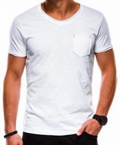 Balti vienspalviai vyriški marškinėliai internetu pigiau S1100 13717-1