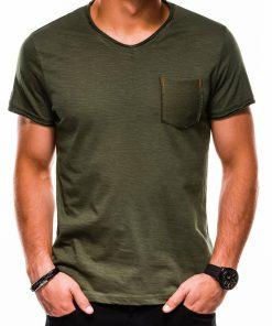 Chaki vienspalviai vyriški marškinėliai internetu pigiau S1100 13722-3