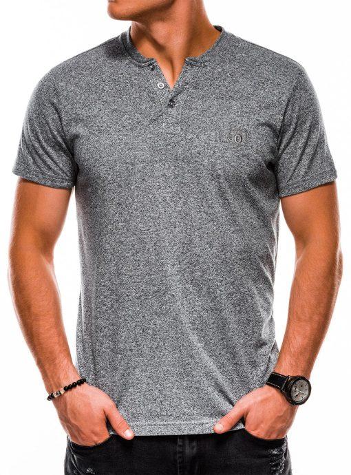 Pilki vienspalviai vyriški marškinėliai internetu pigiau S1047 13728-2