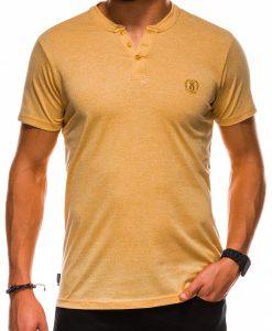 Geltoni vienspalviai vyriški marškinėliai internetu pigiau S1047 13729-3