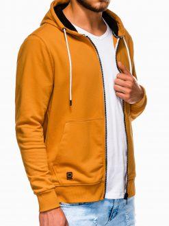 Geltonas vyriškas džemperis su gobtuvu B976 13736-2