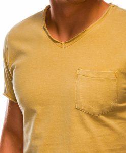 Geltoni marškinėliai vyramas internetu pigiau S1037 13756-1
