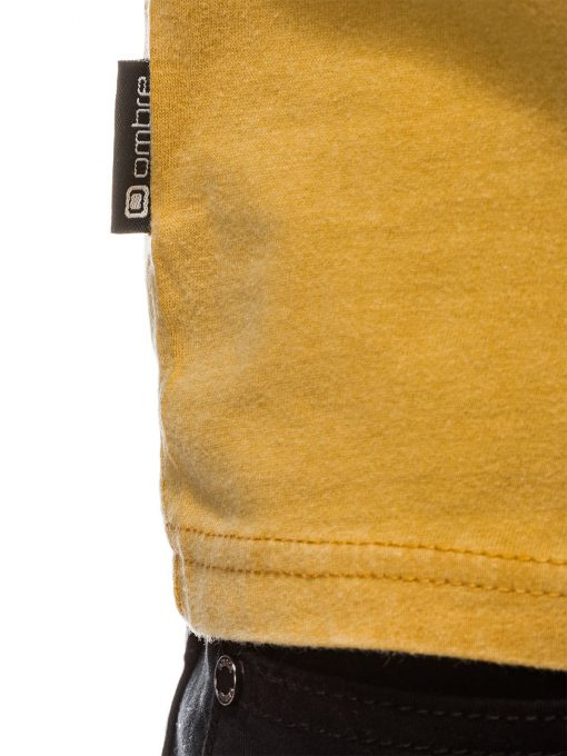 Geltoni marskineliai vyrams internetu pigiau S1037 13756-3