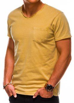 Geltoni vienspalviai vyriški marškinėliai internetu pigiau S1037 13756-5