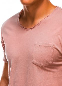 Rožiniai marškinėliai vyrams internetu pigiau S1037 13758-3