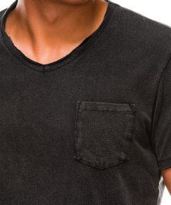 Juodi marškinėliai vyrams internetu pigiau S1037 13761-2