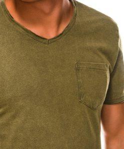 Chaki vienspalviai marškinėliai vyrams internetu S1037 13762-3