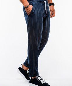 Tamsiai mėlynos chino kelnės vyrams internetu pigiau P85213772-2