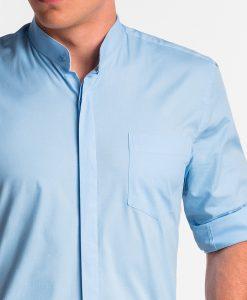 Šviesiai mėlyni vyriški marškiniai internetu pigiau K508 13777-1