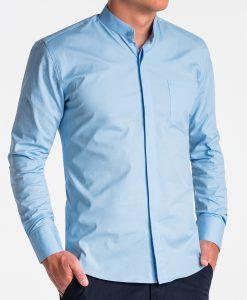 Šviesiai mėlyni marškiniai vyrams internetu pigiau K508 13777-4
