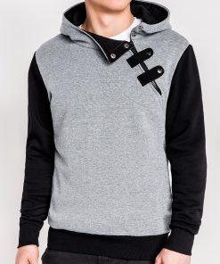 Tamsiai pilkos-juodos spalvos vyriškas džemperis vyrams internetu pigiau Paco 1974-1